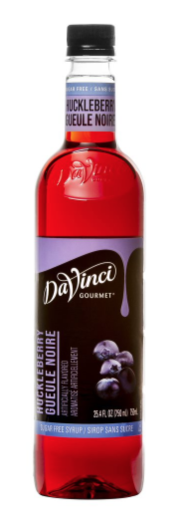 Sugar Free Huckleberry DaVinci 750ml