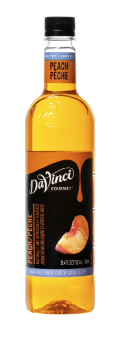 Sugar Free Peach DaVinci 750ml