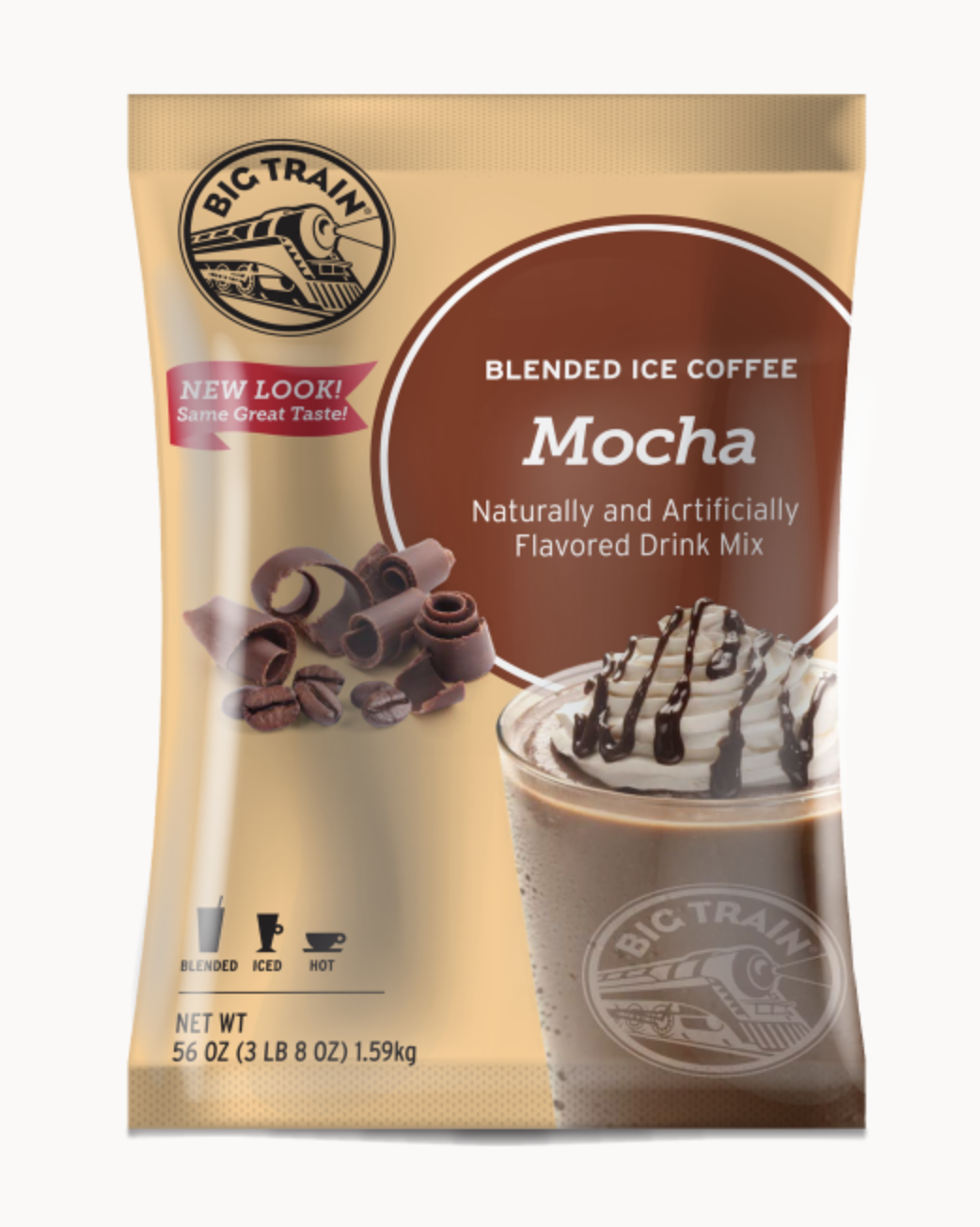 Mocha Blended Iced Coffee Big Train 3.5 lbs.