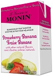 Premium Strawberry Banana Fruit Smoothie Mix Monin