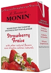 Premium Strawberry Fruit Smoothie Mix Monin