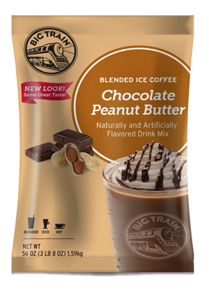 Chocolate Peanut Butter Blended Iced Coffee Big Train 3.5 lbs.
